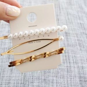 Accessories - 4 piece Gold Plated Hair Clip Pin Accessories